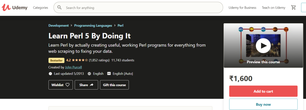 Learn Perl 5 By Doing It